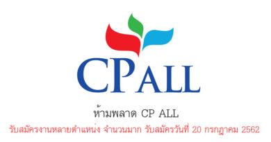 ห้ามพลาด CP ALL รับสมัครงานหลายตำแหน่ง จำนวนมาก รับสมัครวันที่ 20 กรกฎาคม 2562